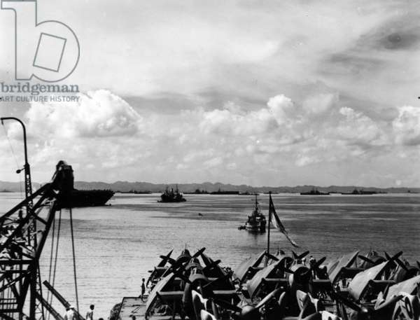 Tokyo Bay, 1945 (b/w photo)