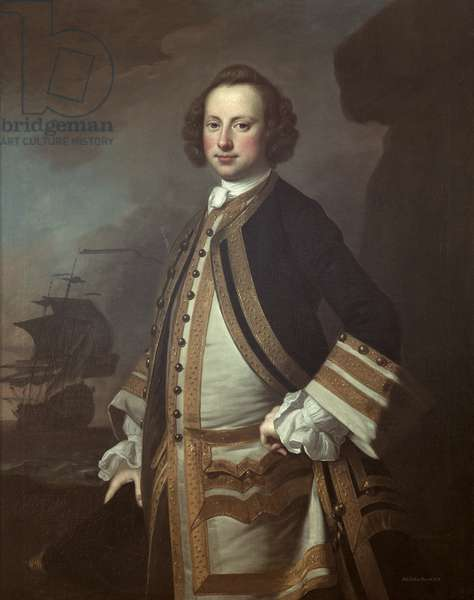 Sir George Pocock (1706-92) 1760 (oil on canvas)