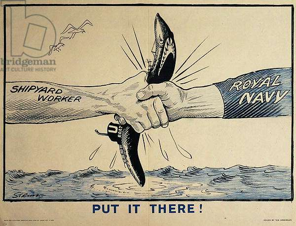 'Put It There!', WWII poster, c.1940 (colour litho)