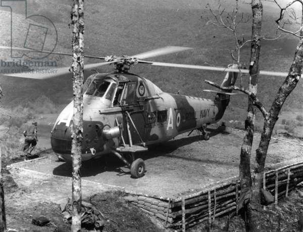 848 Squadron, Borneo (b/w photo)