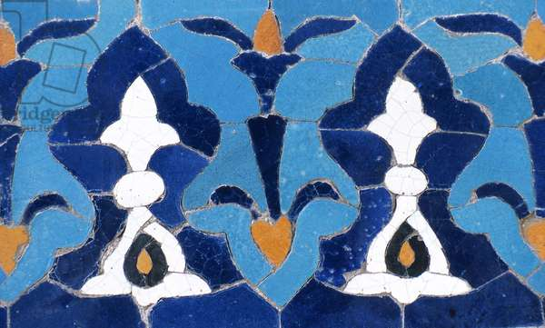 Detail of ceramic in mausoleum of Timur,  (photo)
