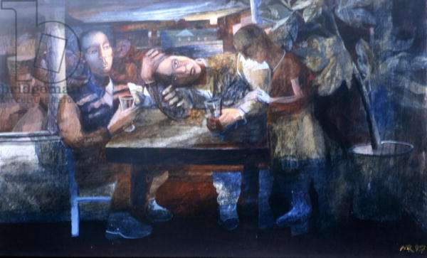 Sad Cafe, 1997 (gouache on paper)