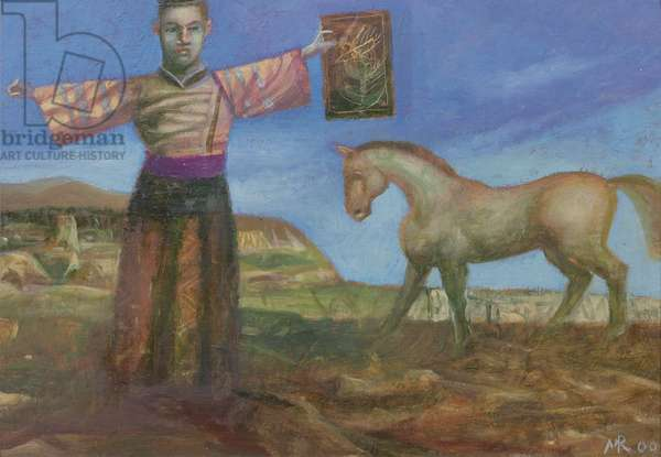 Priest/ Magician with Horse, 2000 (oil on canvas)