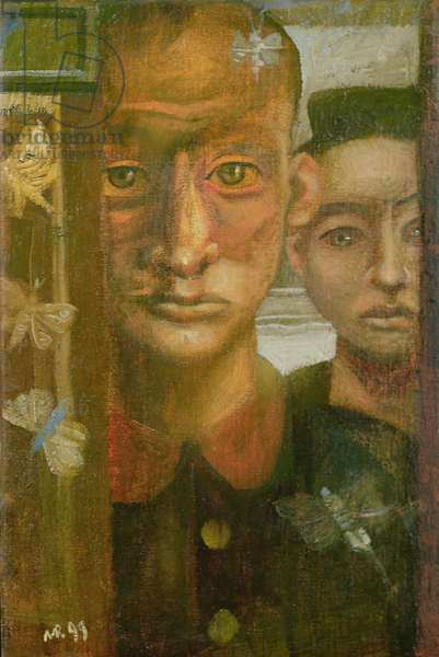 Two Actors (Warsaw Ghetto), 1999 (oil on canvas)