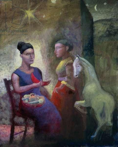 Teaching Pegasus II, 2004 (oil on canvas)