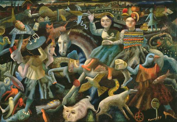 Children's Dream Parade, 1987 (oil on canvas)