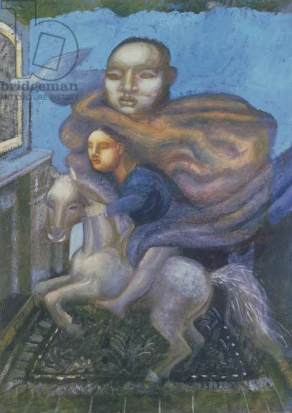 Her Personal Blue, 1998 (oil on canvas)