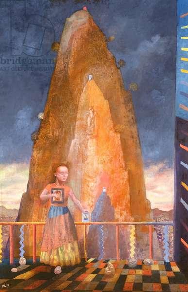 Mountain Shrine - Italy, 1991 (oil on canvas)