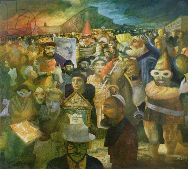 Purim, 1999 (oil on canvas)