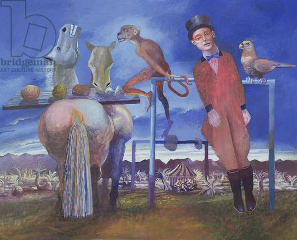 The Ring Master, 1998 (gouache on paper)