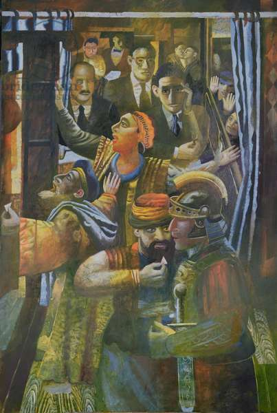 The Savoy Cafe (Kafka), October 13th 1911, 1999 (oil on canvas)