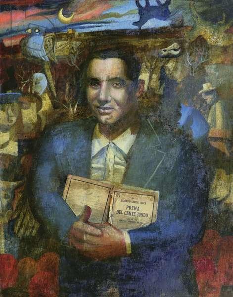 Portrait of Garcia Lorca, 1993 (oil on canvas)