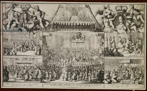 Scene from the Coronation of William and Mary, 1689 (etching)