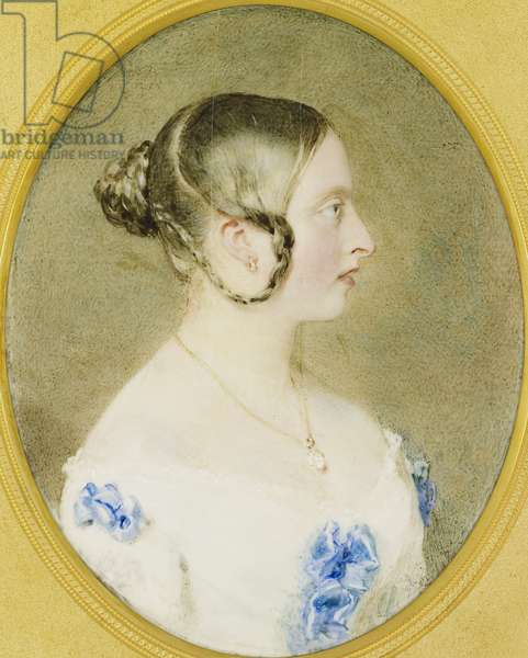 Queen Victoria, 1841 (w/c on ivory laid on card)