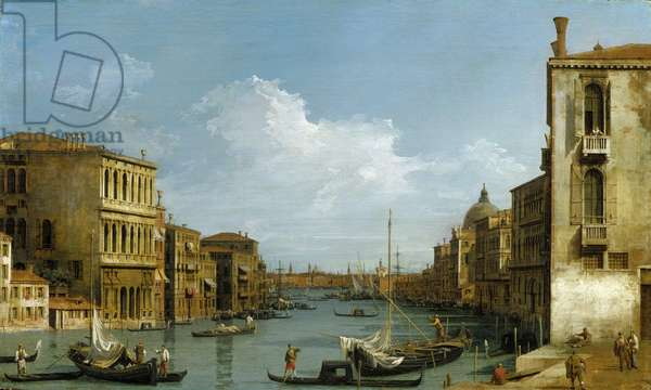 The Grand Canal looking east from Camp San Vio towards Bacino, c.1727-28 (oil on canvas)