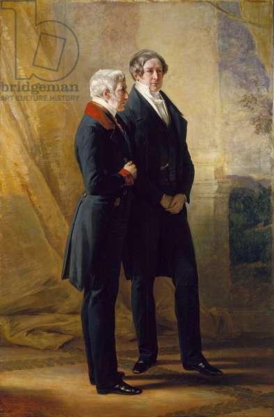 Arthur Wellesley, 1st Duke of Wellington with Sir Robert Peel, 1844 (oil on canvas)