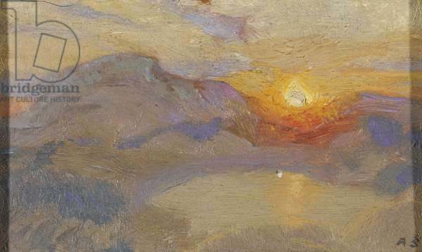 Sunset, 1922 (oil on panel)