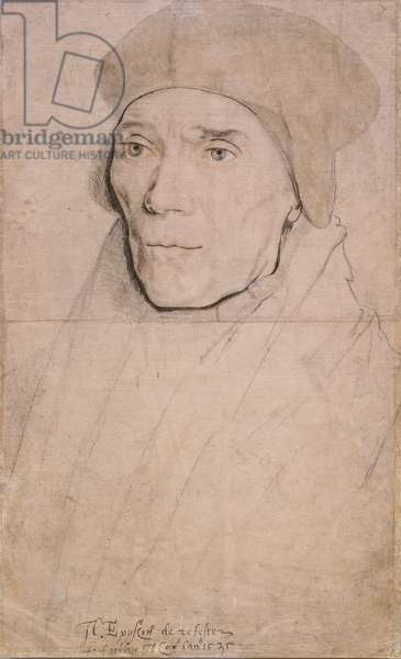 John Fisher, Bishop of Rochester, c.1532-34 (black & coloured chalks, brown wash, pen, brush and ink on paper)