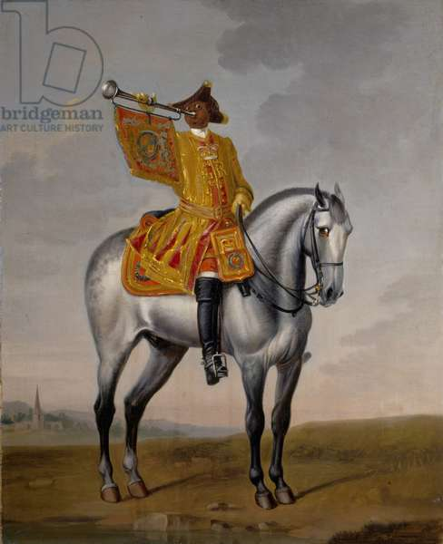 Trumpeter, 1st Troop of Horse Guards, c.1750 (oil on canvas)