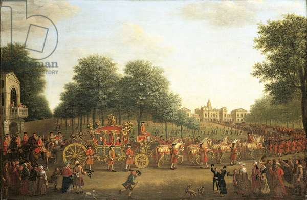 George III's procession to the Houses of Parliament, 1762 (oil on canvas)