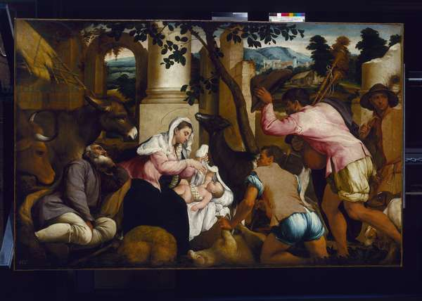 The Adoration of the Shepherds, c.1546 (oil on canvas)