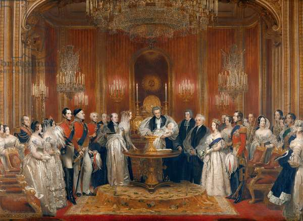 The Christening of Victoria, Princess Royal, 10 February 1841, c.1841-2 (oil on canvas)