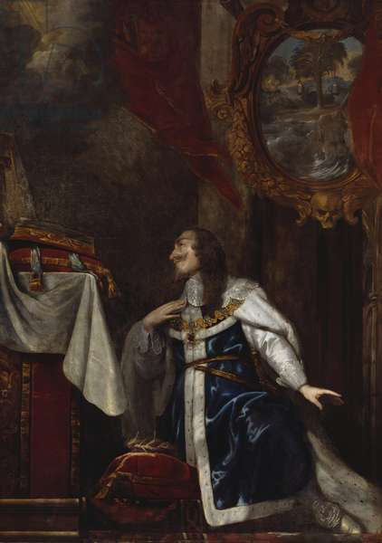 A Memorial Picture of Charles I, 1660s (oil on canvas)