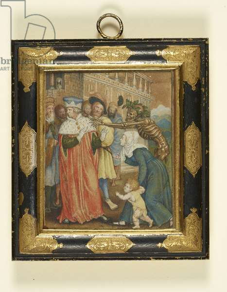 The Dance of Death (The Prince), after Holbein, c.1610-15 (w/c & gold on paper)