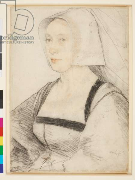 An unidentified woman c.1526-28 (black and coloured chalks on paper)