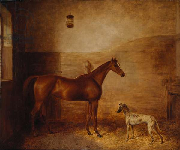 Taglioni and Hector, c.1837 (oil on canvas)