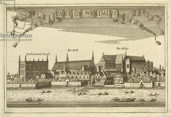 Westminster, from the River, 1647 (engraving)