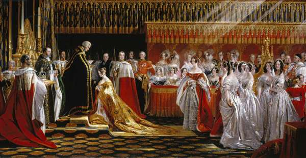 Queen Victoria receiving the Sacrament at her Coronation, 28th June 1838 (oil on canvas)