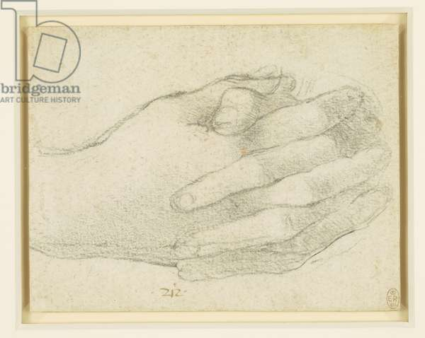 The hands of St John in the Last Supper, c.1495 (chalk on paper)