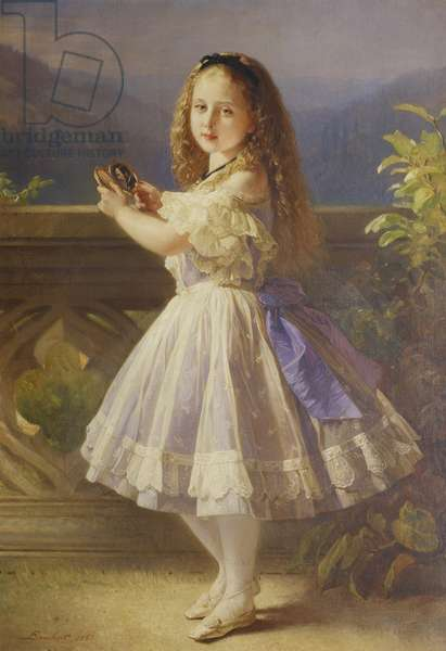 Princess Beatrice, later Princess Henry of Battenberg, 1863 (oil on canvas)