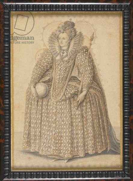 Elizabeth I, c.1603 (pen & ink and wash on paper)