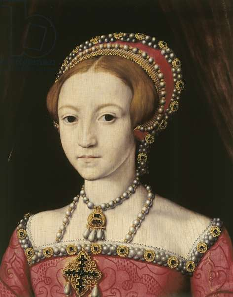 Elizabeth I when Princess, at the age of about 13, c.1546 (oil on panel) (see also 399113)