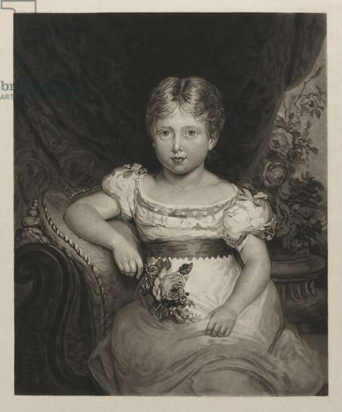 Queen Victoria as princess, c.1825 (mezzotint)