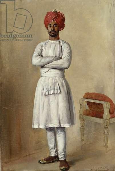 Saiyad Ahmad Hussain, 1888 (oil on canvas)