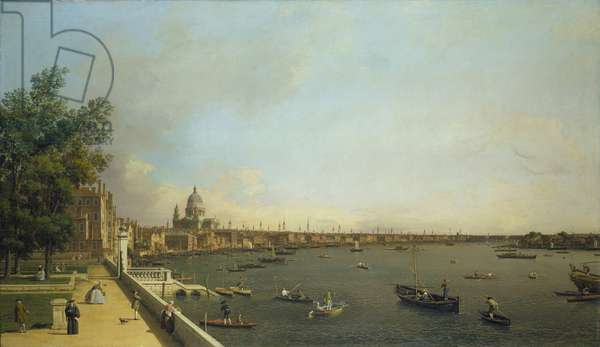 The Thames from Somerset House Terrace towards the City, c.1746-50 (oil on canvas)