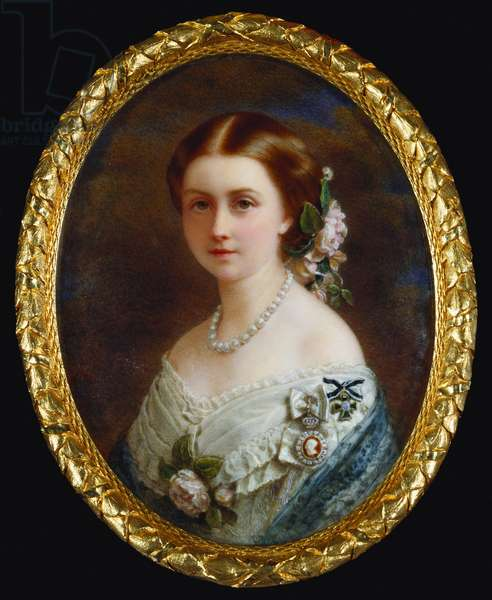 Victoria, Princess Royal, when Princess Frederick William of Prussia, 1860 (w/c on ivory)
