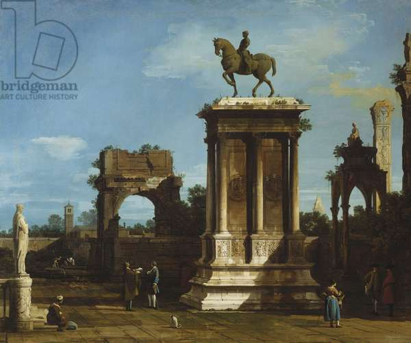 The Colleoni Monument in a Caprice Setting, 1744 (oil on canvas)