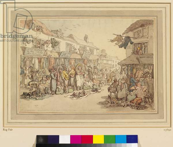 Rag Fair, c.1800 (pen & ink with w/c over pencil on paper)