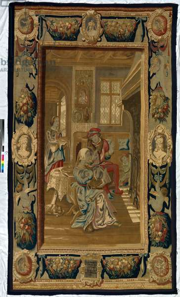 The Twelve Months: January, 1623 (woven silk and wool tapestry with gilt-metal- and silver-wrapped thread)