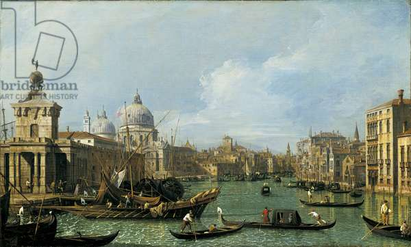 The mouth of the Grand Canal looking west towards the Carita, c.1729-30 (oil on canvas)