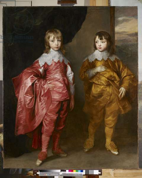 George Villiers, 2nd Duke of Buckingham, and Lord Francis Villiers, 1635 (oil on canvas)