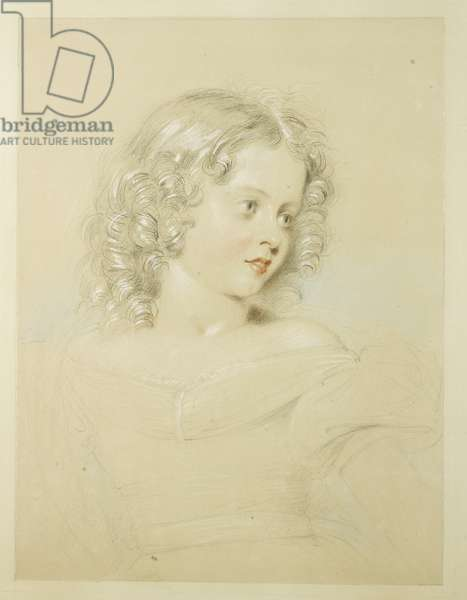 Princess Victoria, 1829 (pencil with white heightening on paper)