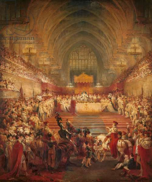 The Banquet at the Coronation of George IV, 1821 (oil on canvas)