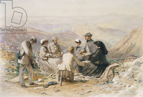 Luncheon at Cairn Lochan, 16th October 1861 (w/c on paper)