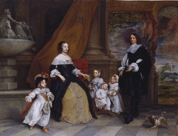 The Family of Jan-Baptista Anthoine, 1664 (oil on copper)