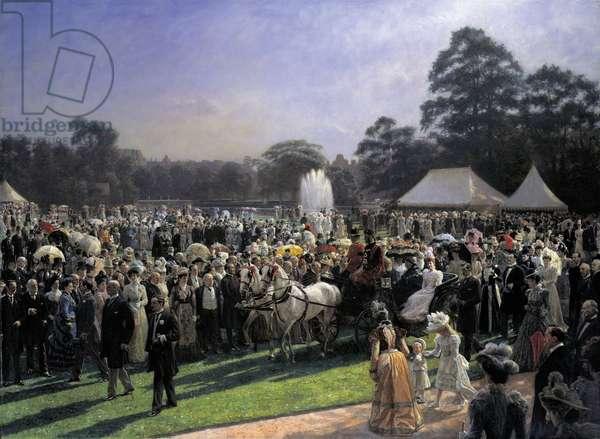 The Queen's Garden Party, 28 June 1897, c.1897-1900 (oil on canvas)